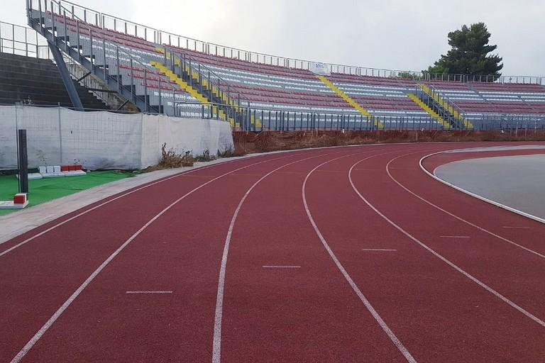 Pista di atletica allo stadio Puttilli