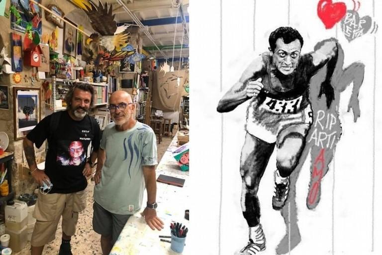 Lanotte e Borgiac per il murale dedicato a Pietro Mennea