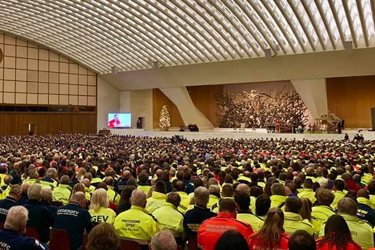 La Protezione Civile incontra Papa Francesco
