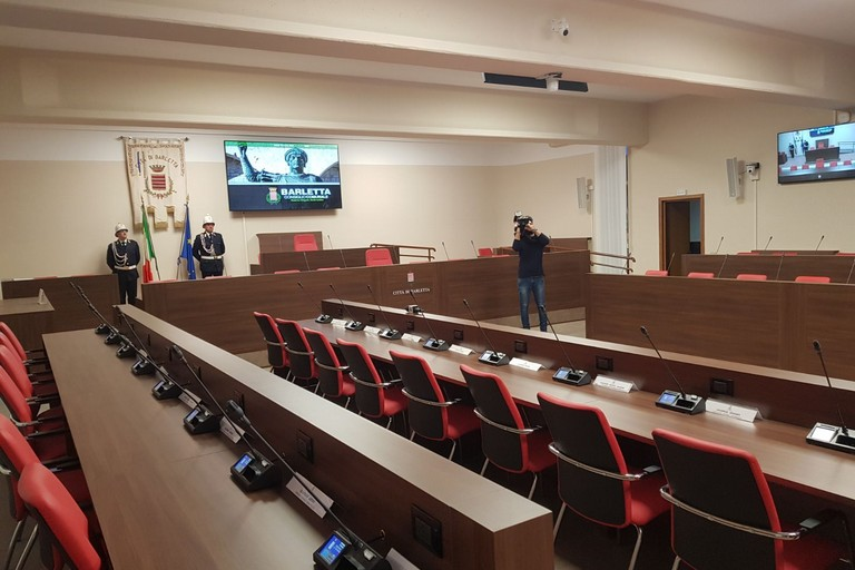 La nuova sala consiliare