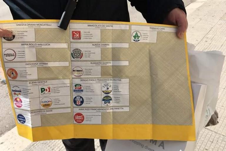Schede elettorali abbandonate in via Roma, la denuncia di Barletta Cinque Stelle