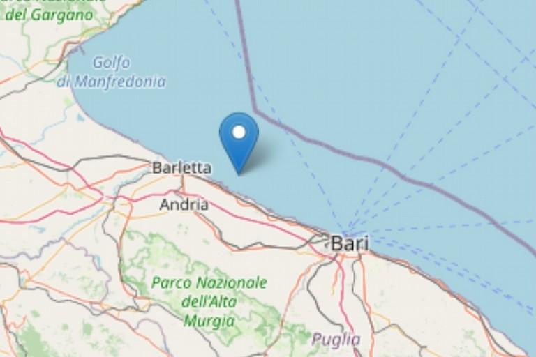 Lieve terremoto a Barletta