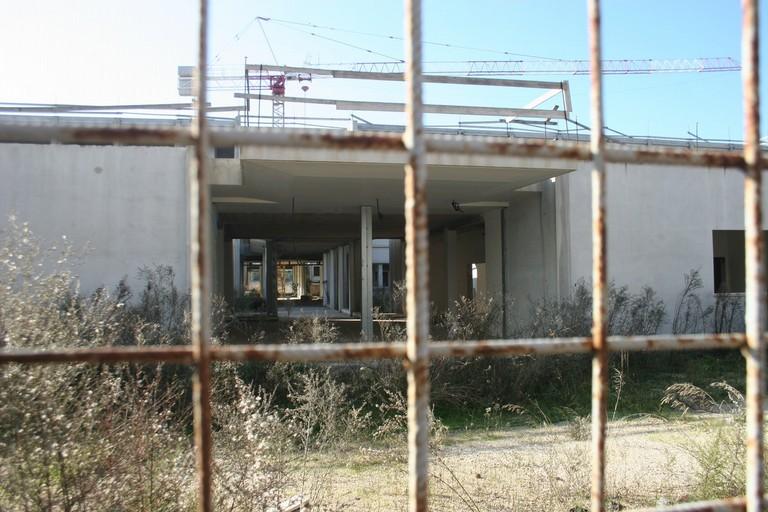 Cantiere della nuova scuola in zona Patalini