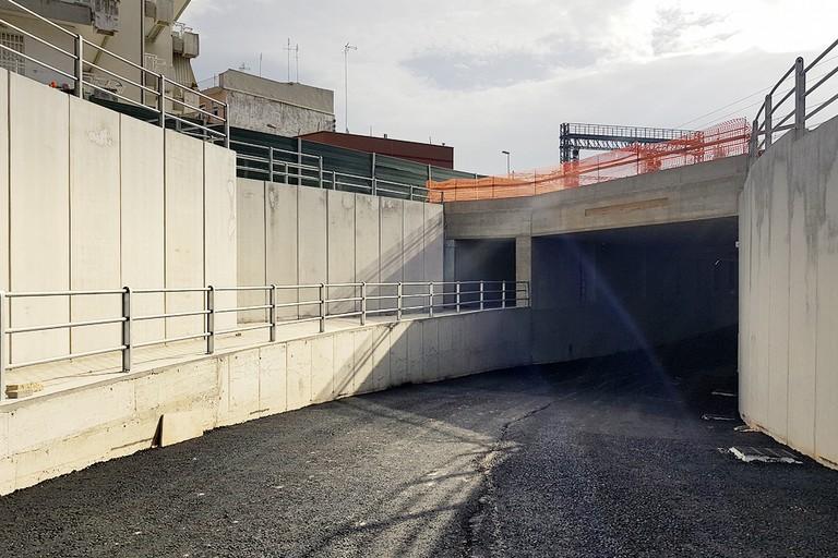 Sottovia Einaudi in costruzione a Barletta (Foto Mario Sculco)