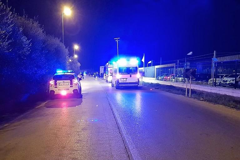 Incidente mortale in via Trani