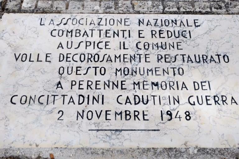 Targa Capella Ossario