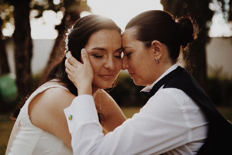 Rosa e Carmela - unioni civili. <span>Foto Gentiluomo Wedding Studio</span>