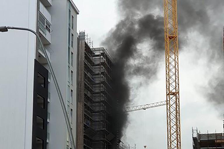 Incendio alla periferia di Barletta