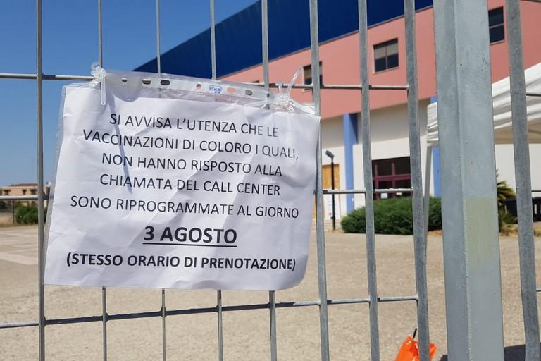 Hub vaccinale Barletta